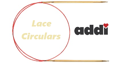 ADDI Lace Circular Knitting Needles Brass