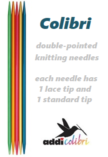 ADDI Colibri Colourful Double-pointed Knitting Needles